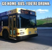Go home bus you are drunk